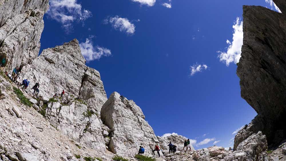 arrampicata alle 5 Torri