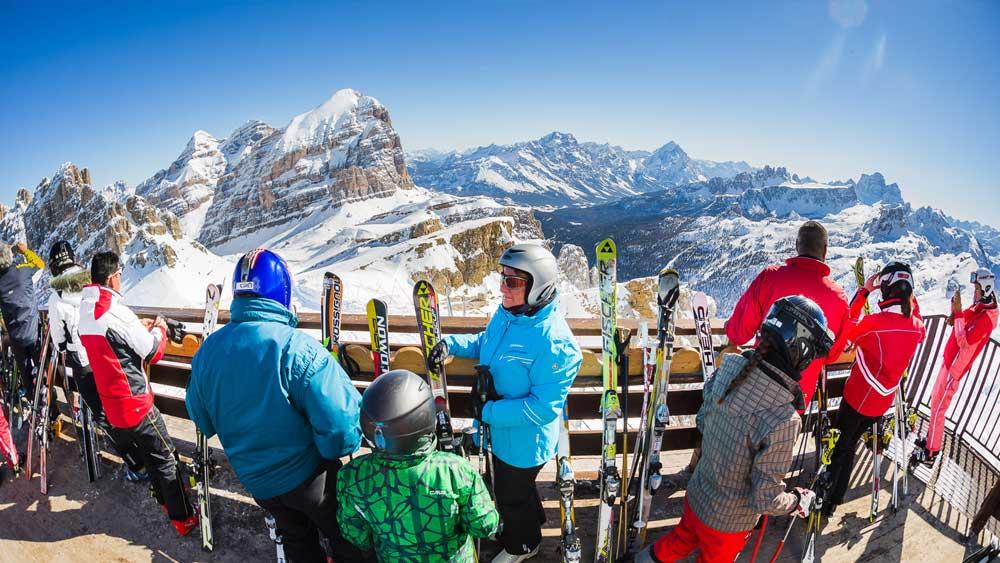 Piste di sci con panorami mozzafiato